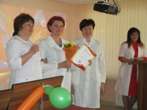 Награждение старшей медицинской сестры ОЛТ №4 Т.В. Краморовой