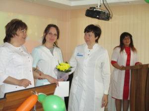 Награждение медицинской сестры участковой ДО №3 Н.В. Прохоренко