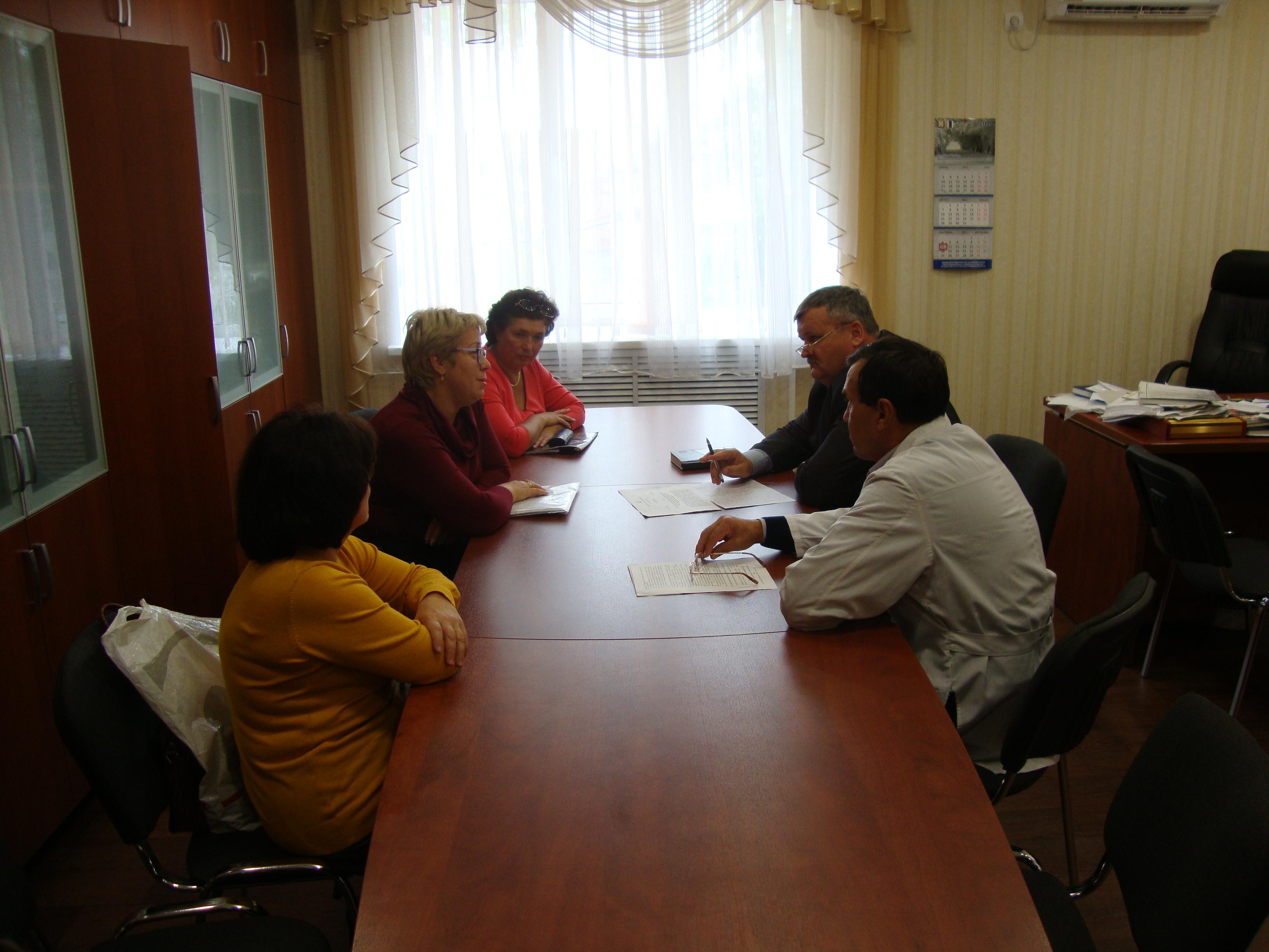 совещание главного врача Шербакульской ЦРБ